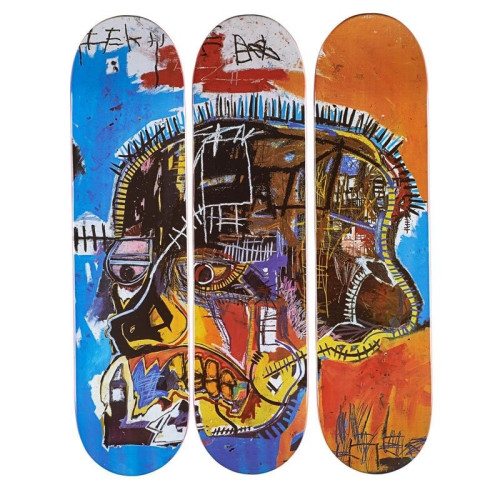 Skateboard Triptych Skull 2014 31H x 8W x 0.5D 7-Ply Canadian Maple Wood