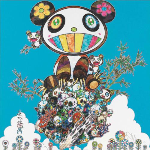 I Met a Panda Family: blue 2013 50 x 50 cm Offset lithograph
