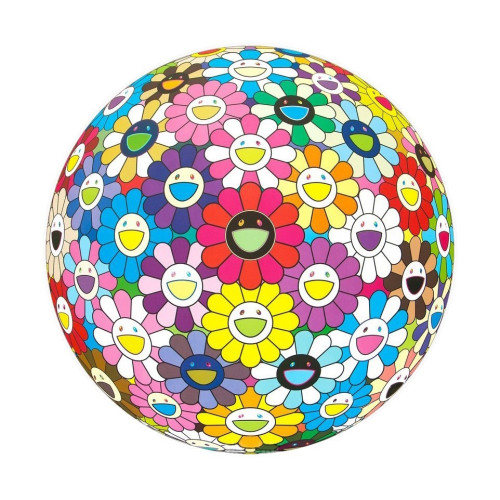 Flowerball Multicolor 2016 diameter 71 cm Woven paper / four-color offset printing / cold foil stamp / glossy varnish Edition of 300