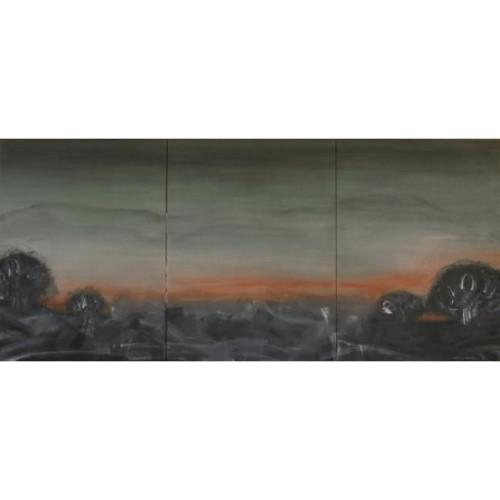 Le soleil levant 晨曦 2011 130 x 291 cm Acrylic on canvas