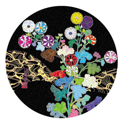 Kansei:Wildflowers Glowing in the Night 2016 diameter 71 cm Woven paper / four-color offset printing / cold foil stamp / spot varnish Edition of 300