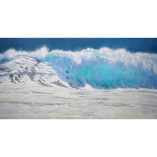 The Wave II 2018 110 x 220 cm Acrylic on canvas