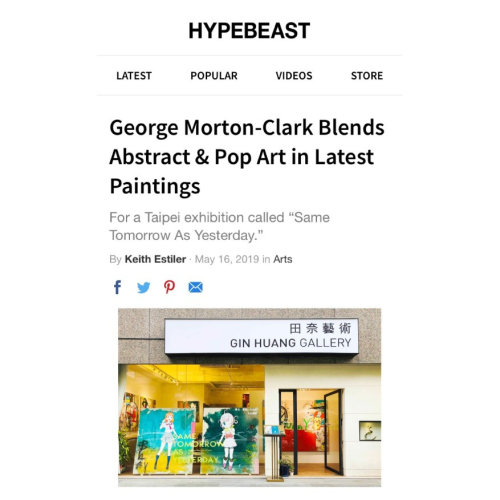 Hypebeast Report|George Morton-Clark Blends Abstract and Pop Art in Latest Paintings