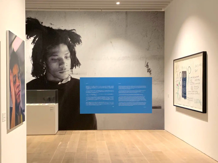 basquiat exhibition entrance